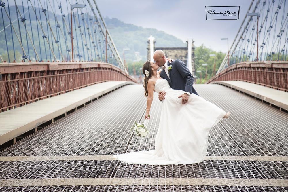 Wheeling, WV Wedding Photographer Suspension Bridge