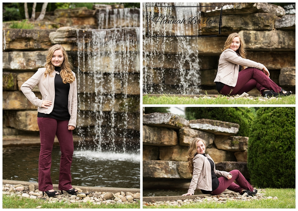 Canonsburg, PA Senior Pictures with waterfall