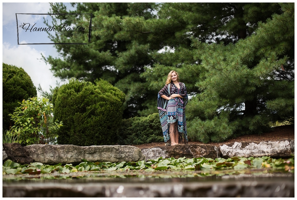 Canonsburg, PA Senior Session with Lily pads