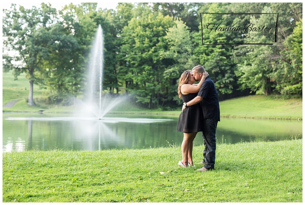 Country Lake Engagement Photos Wellsburg, WV