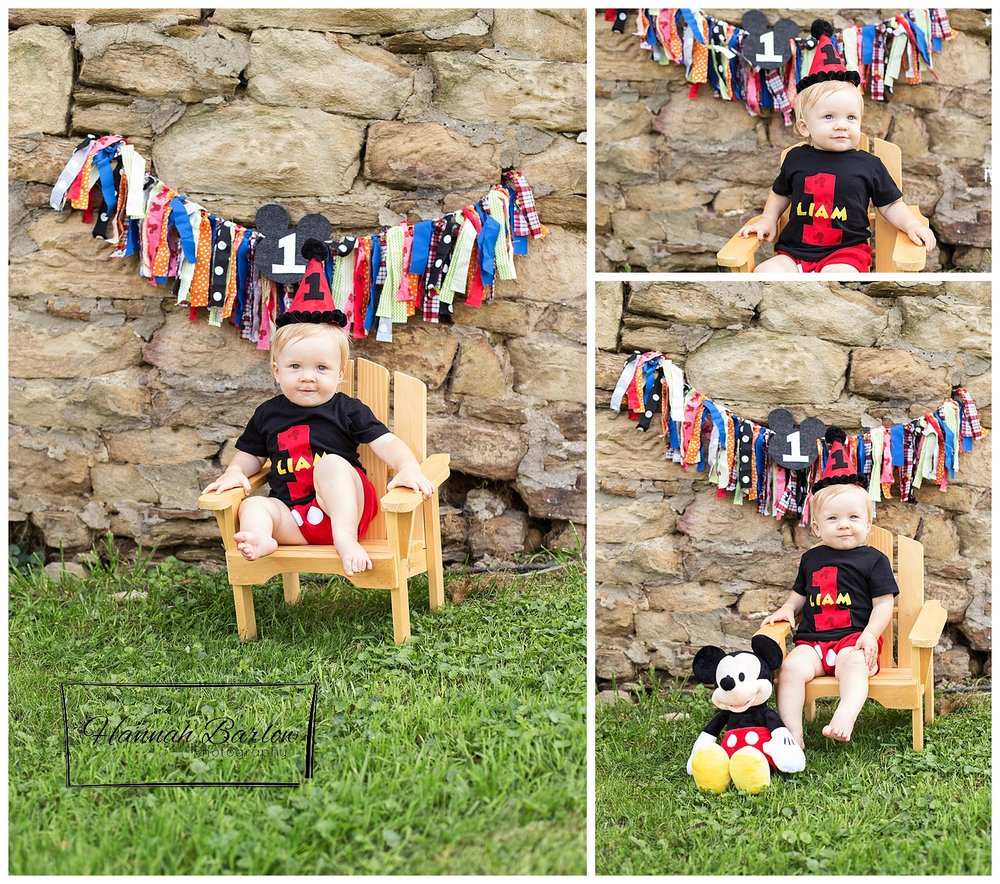 1st Birthday Photo Mickey Mouse Wellsburg, WV