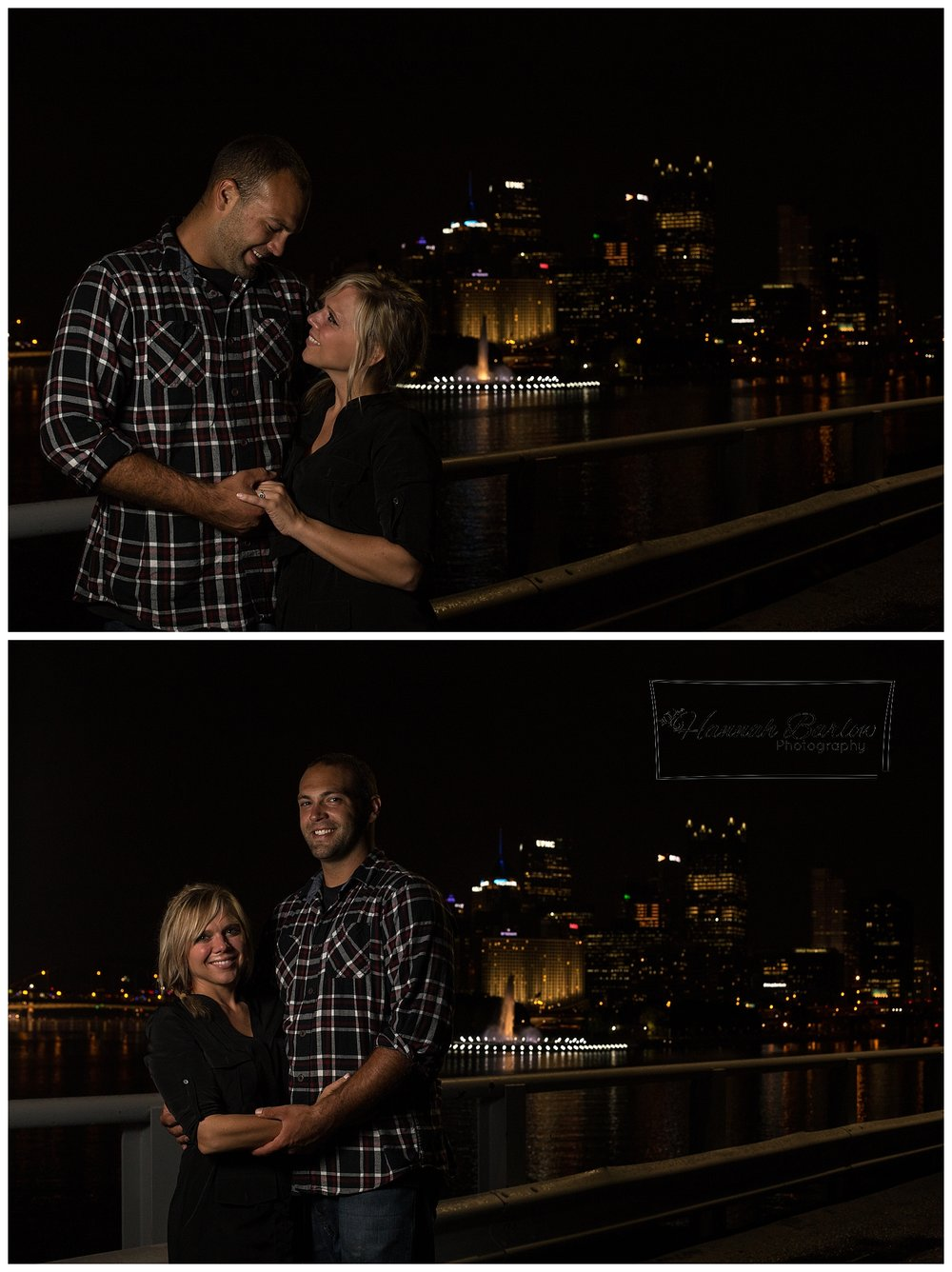 Pittsburgh Engagement Session Night Time