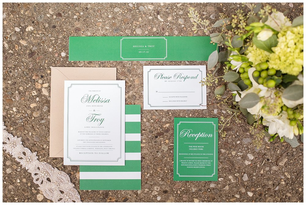 Oglebay Wedding Invitation