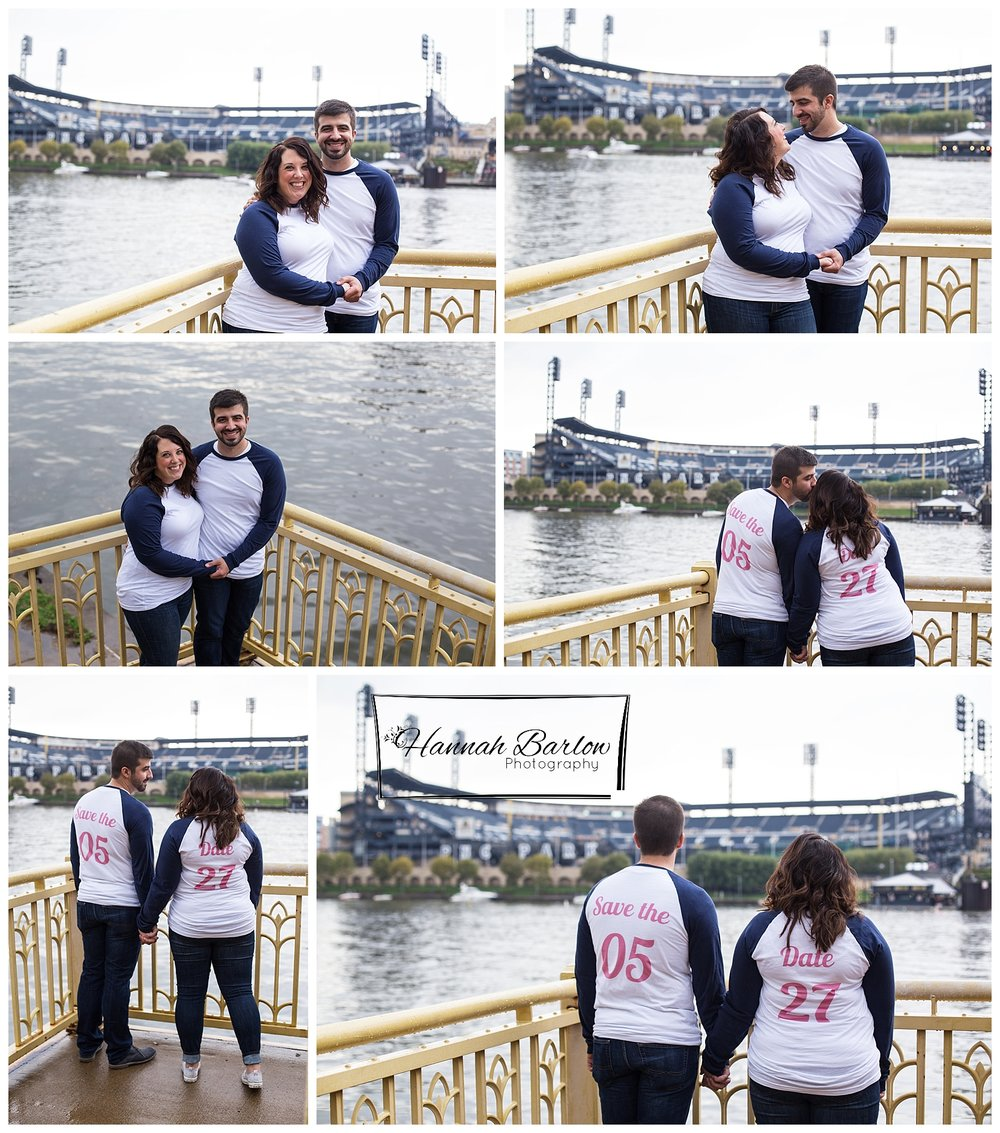 Engagement Photos PNC Park - Clemente Bridge