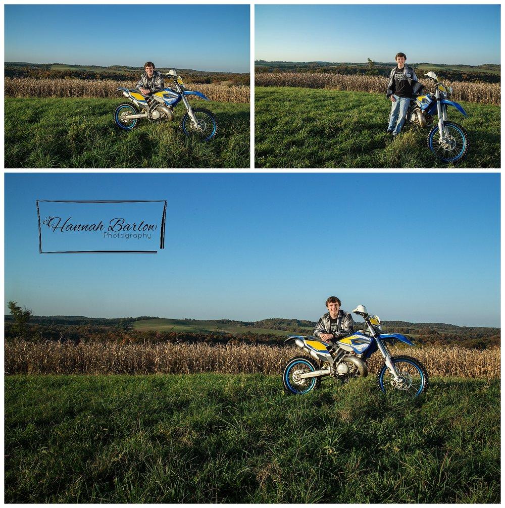 Wellsburg, WV High School Senior Dirtbike Photographs
