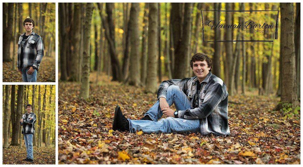 Wellsburg, WV High School Senior Fall Tree Photographs