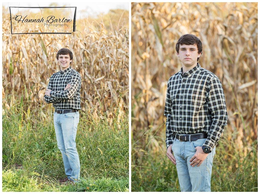 Wellsburg, WV High School Senior Cornfield Photographs
