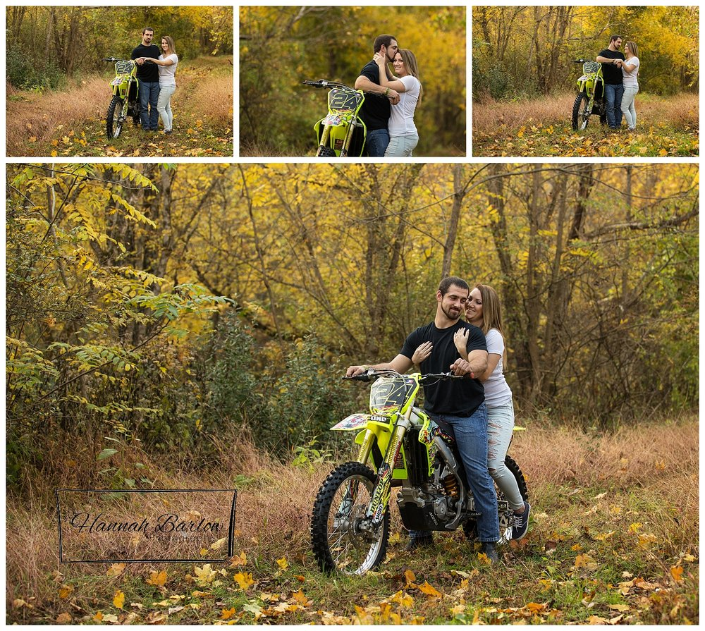 Fall Engagement Pictures with Dirtbike Barton, OH