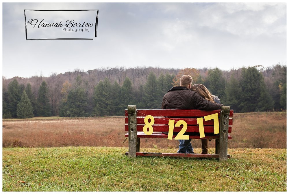 Windber PA Engagement Shoot Bench Save the Date