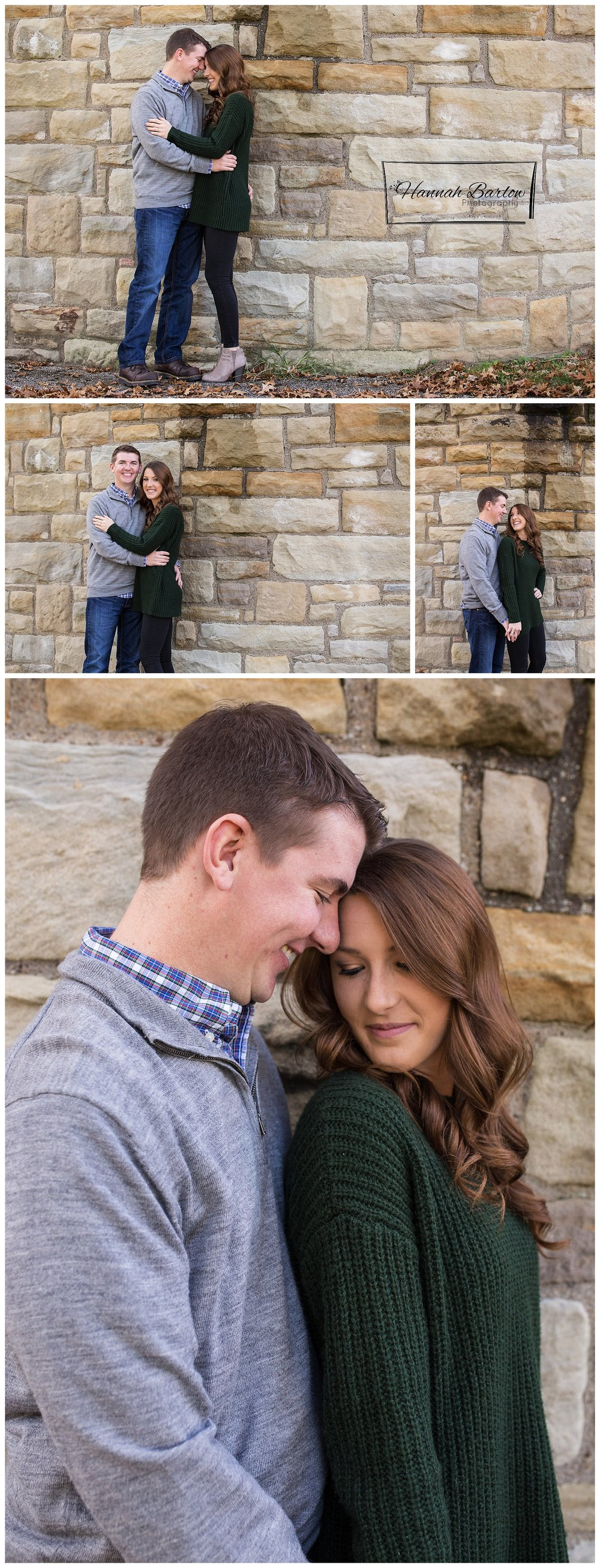 Engagement Photography Oglebay Rock Wall