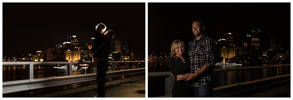 Pittsburgh, PA Night Engagement Session