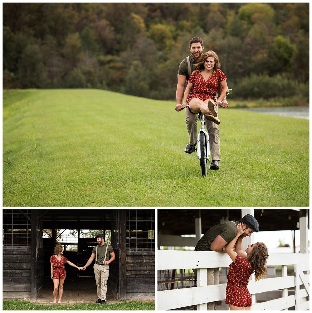 Notebook Inspired Engagement Photography Wellsburg, WV
