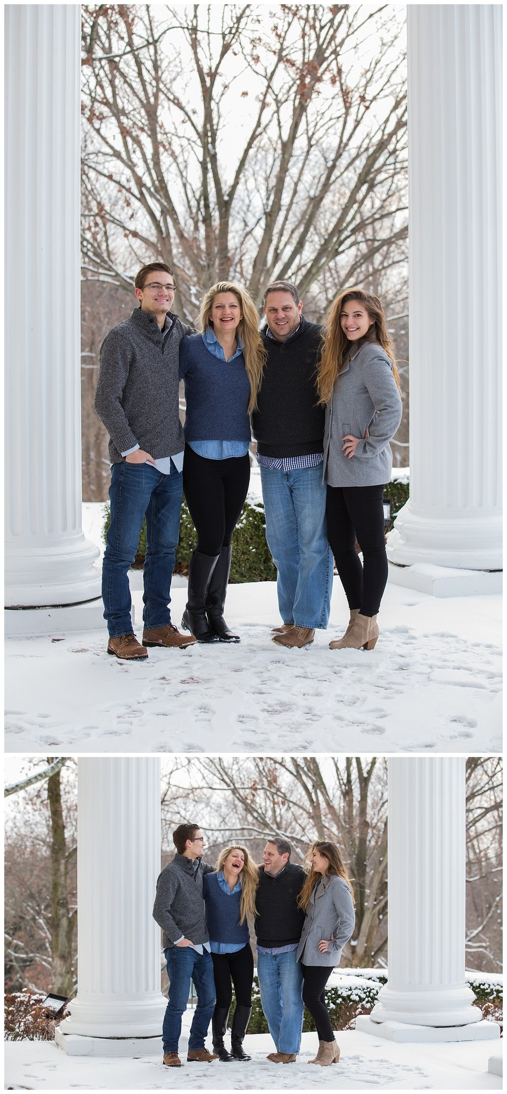 Wheeling, WV Winter Family Photos