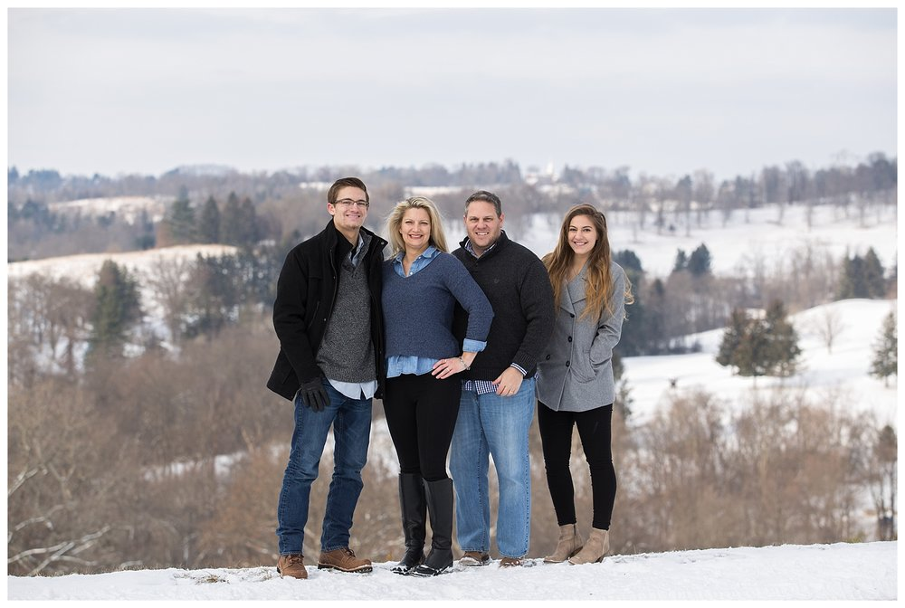 Wheeling Family Session with Snow