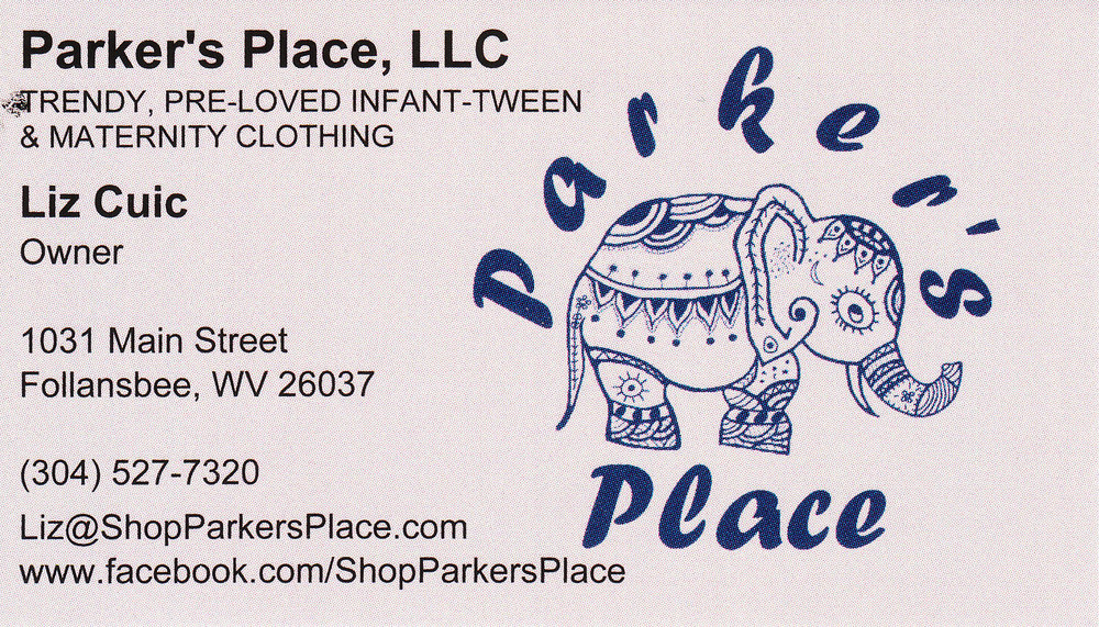Scanned Copy of Business Card.  Design not a product of Hannah Barlow Photography, LLC.