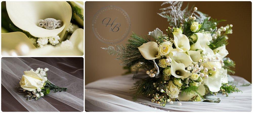 Wilkin Florist Bridal Bouquet Winter Wedding