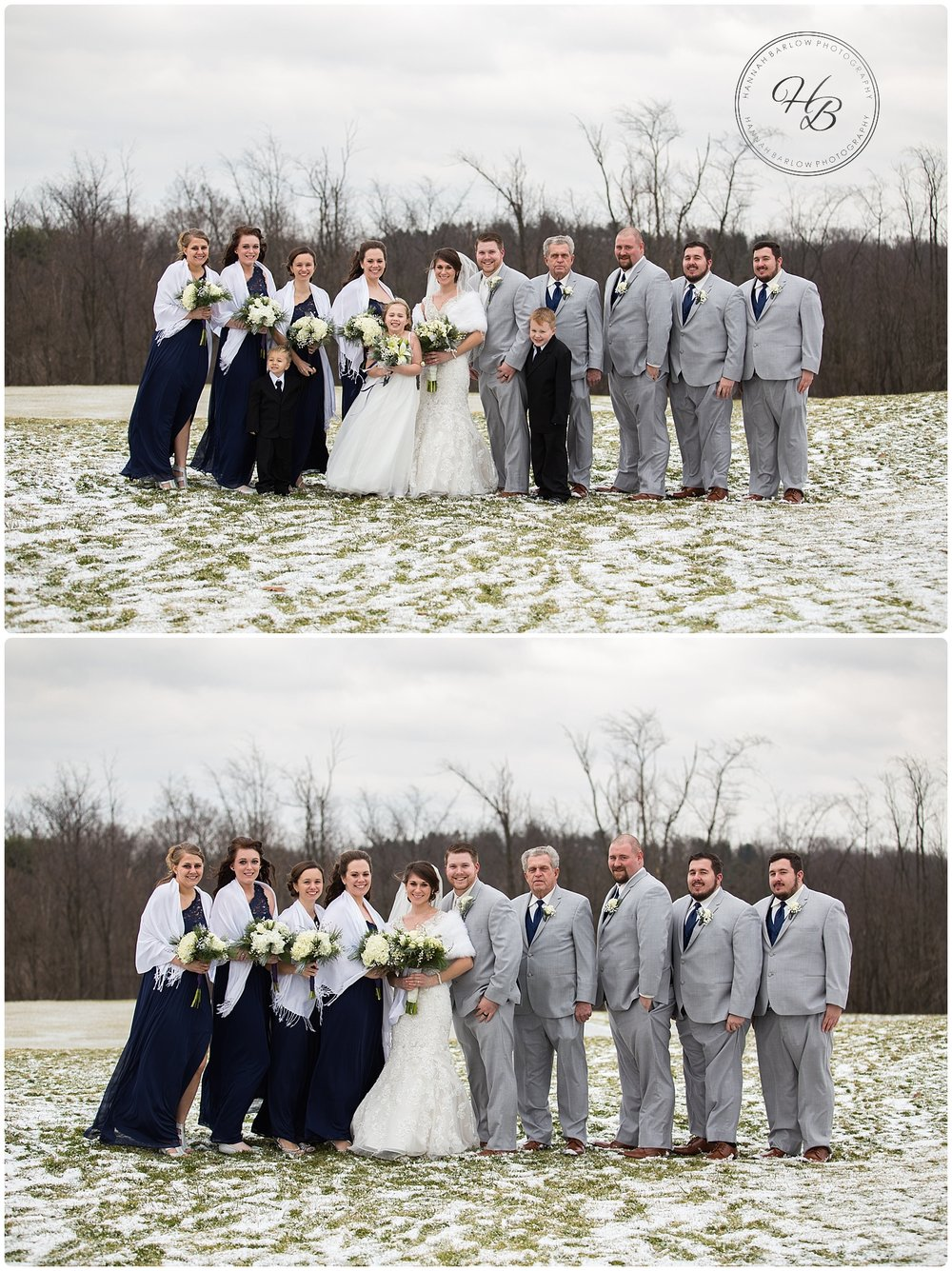 Wellsburg WV Winter Wedding Bridal Party