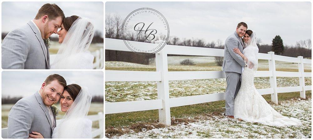 Winter Wedding Bride and Groom Formal Photos
