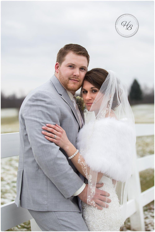 Wellsburg WV Winter Wedding Bride and Groom