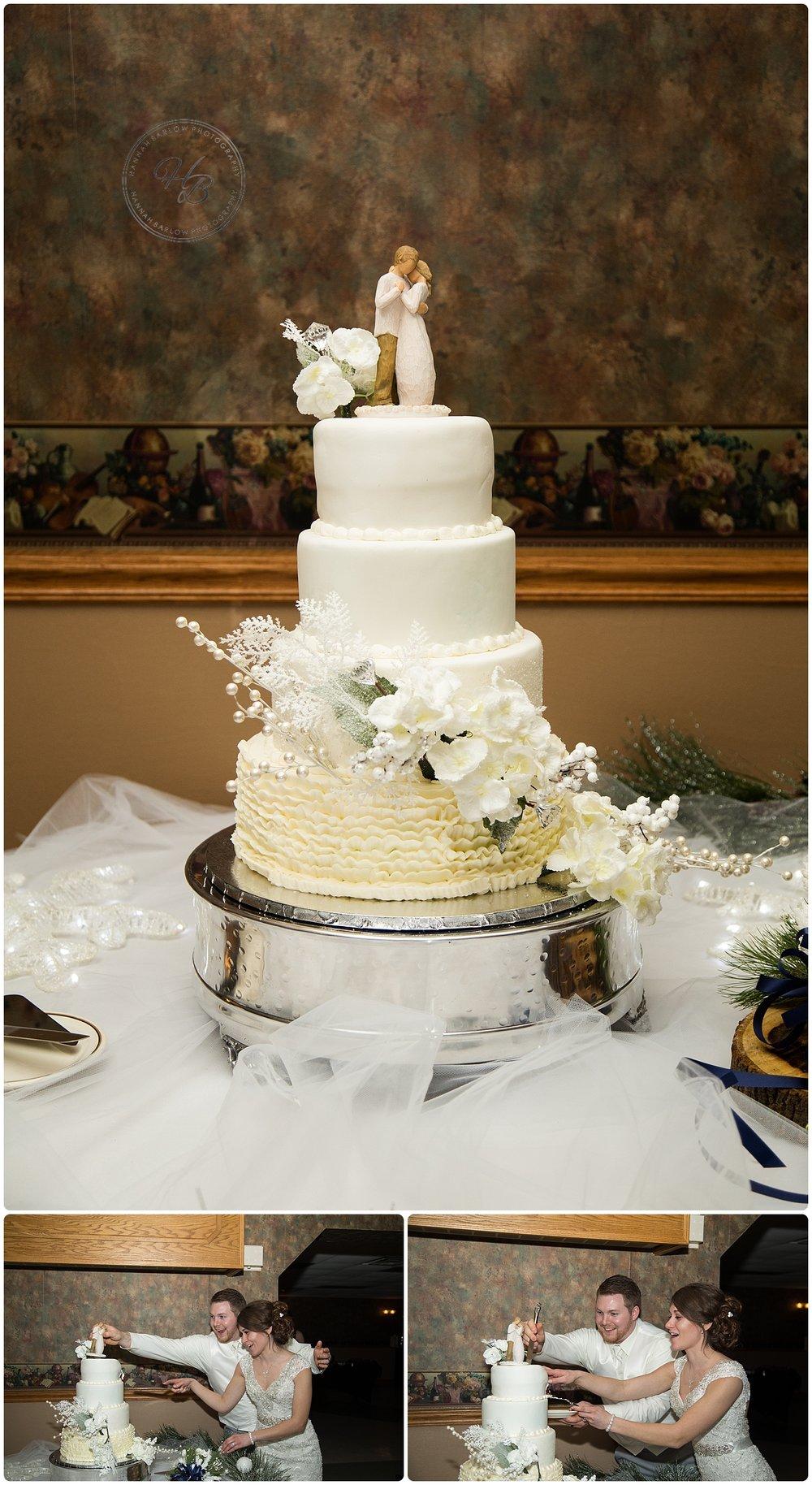 Wedding Reception Cake Photo St. Florian Follansbee WV