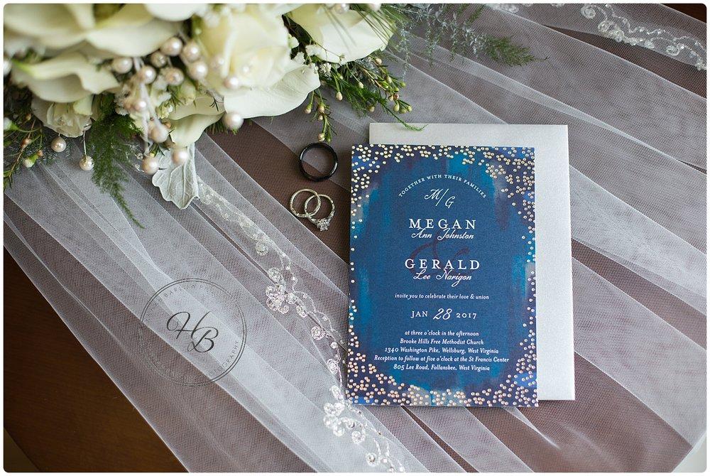 Wellsburg WV Winter Wedding Invitation