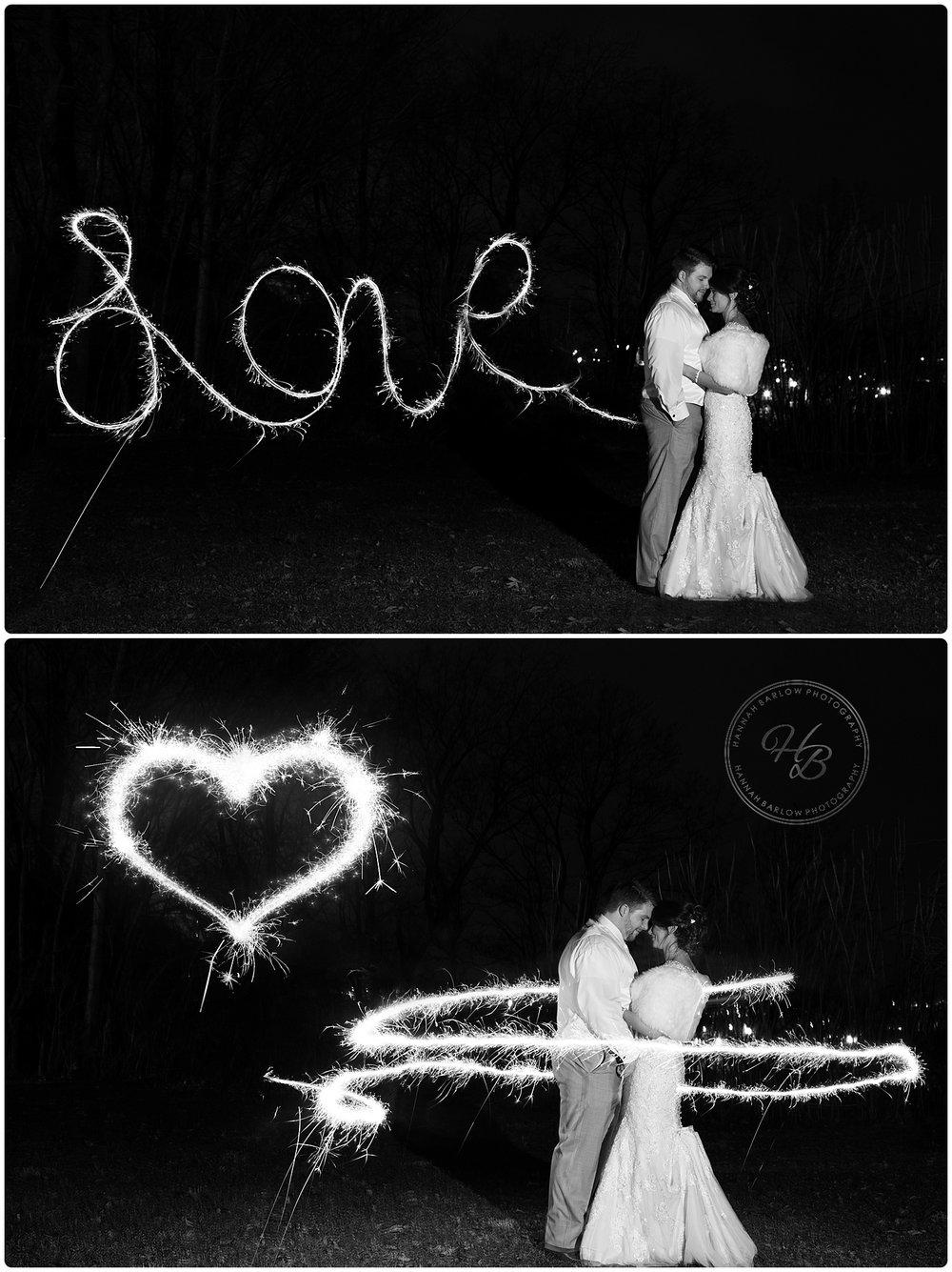 Bride and Groom Sparkler Photo Wellsburg WV