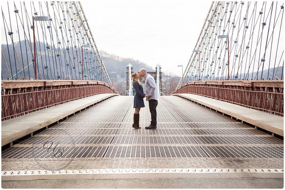 Wheeling Suspension Bridge Engagement Photo