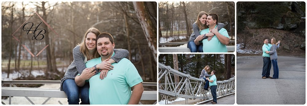 Youngstown, OH Engagement Photo Bridge