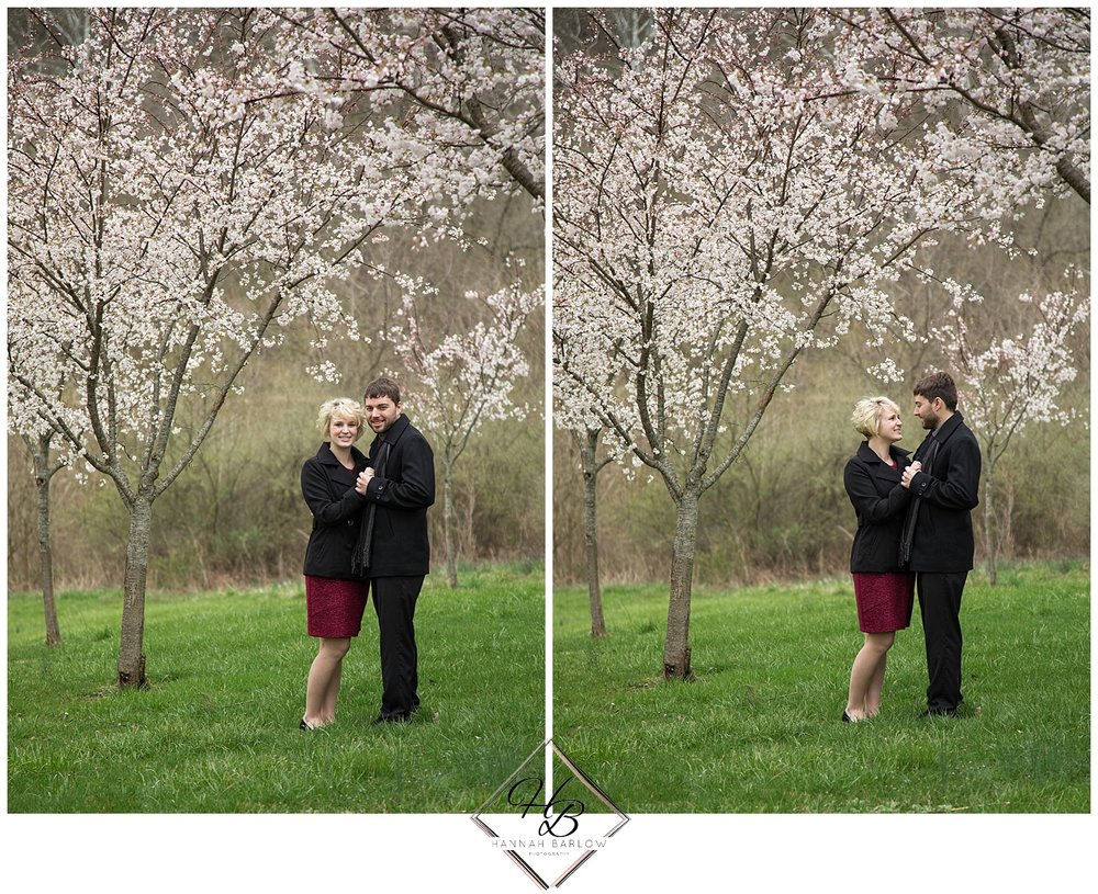 Bethany, WV Engagement Photography Cherry Blossoms