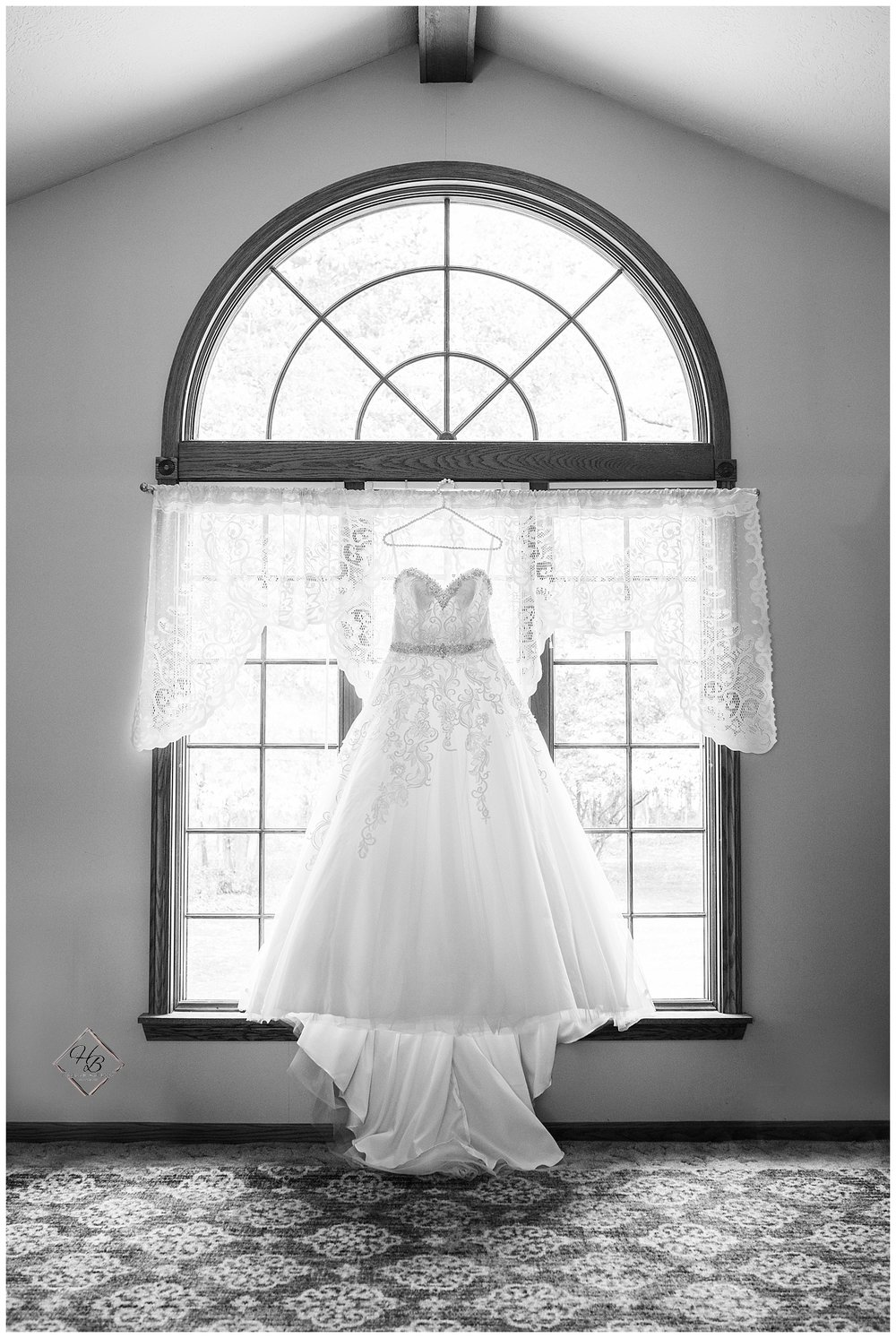Youngstown, OH Fairytale Wedding Wedding Gown Black and White