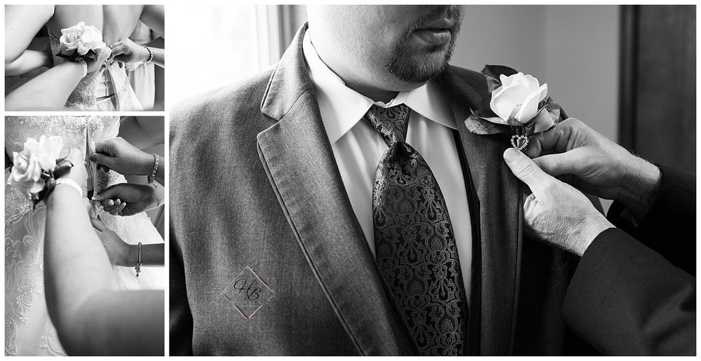 Youngstown, OH Fairytale Wedding Getting Ready Photo Black and White