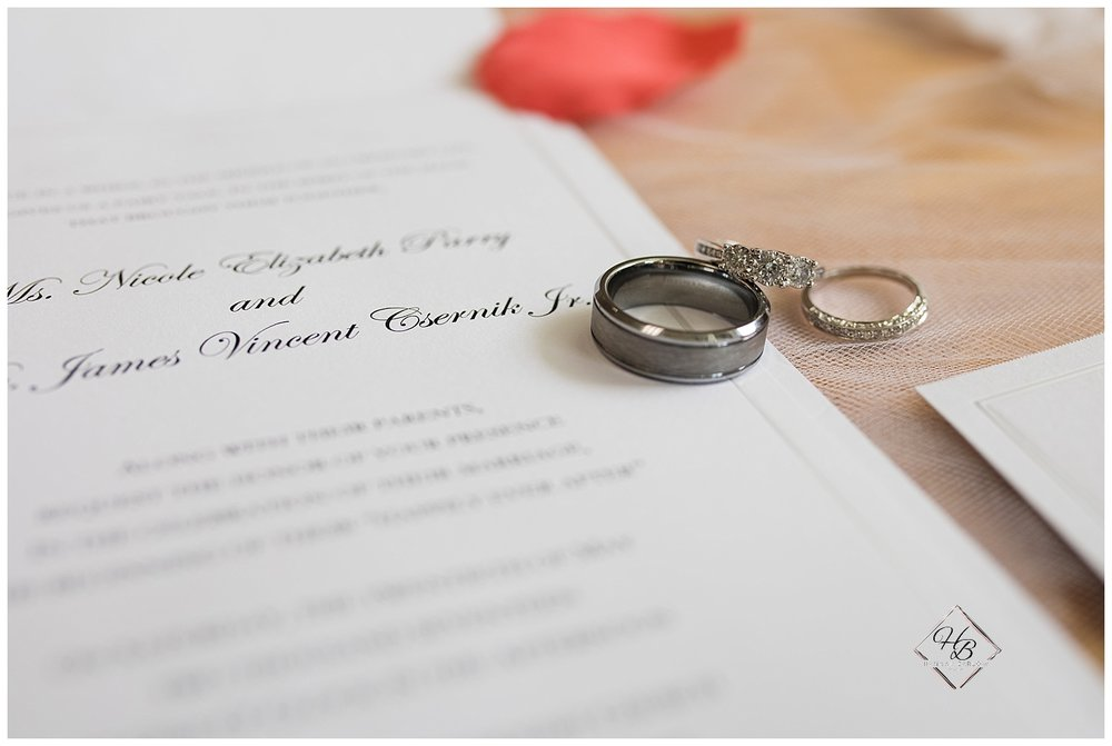 Youngstown, OH Fairytale Wedding Invitation With Rings