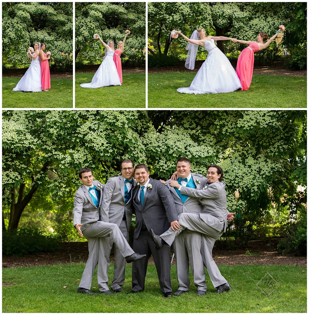 Youngstown, OH Fairytale Wedding Bridal Party Fun Photos