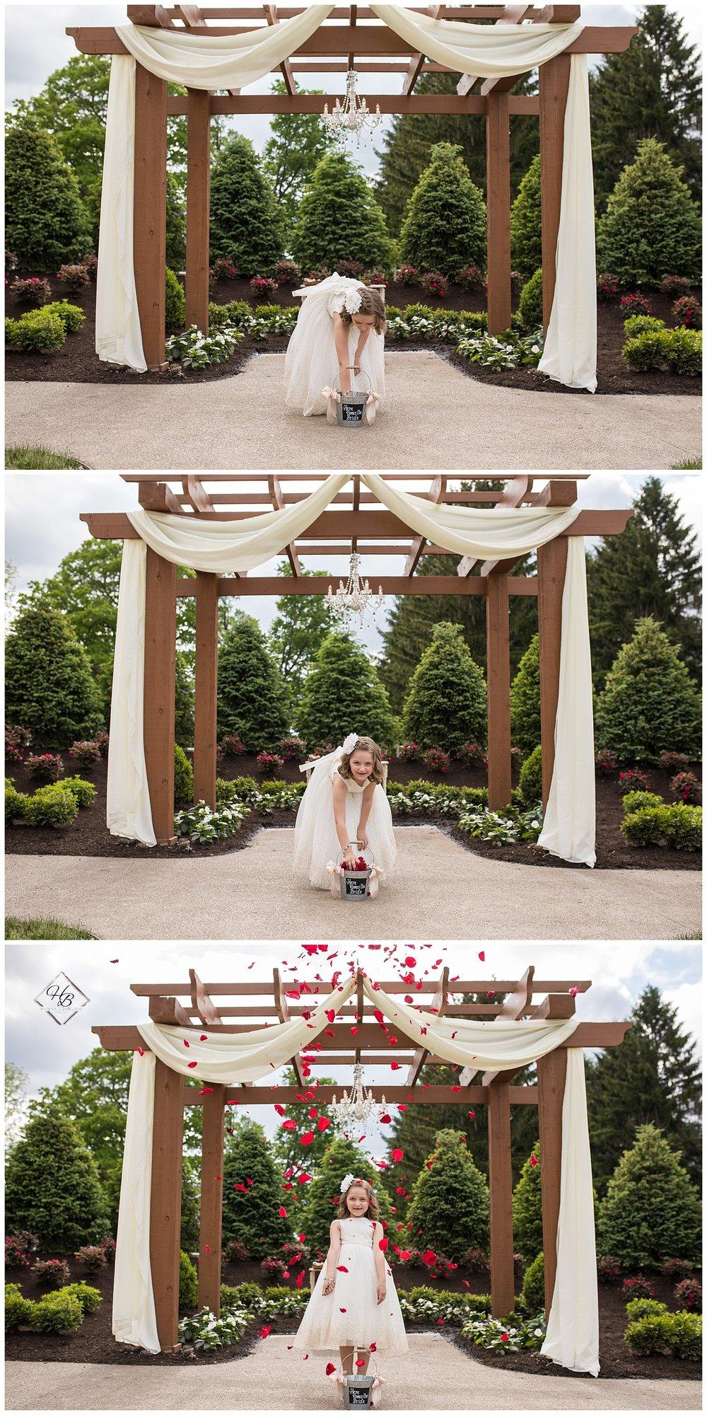 Irons Mills Vintage Wedding Flower Girl Throwing Petals