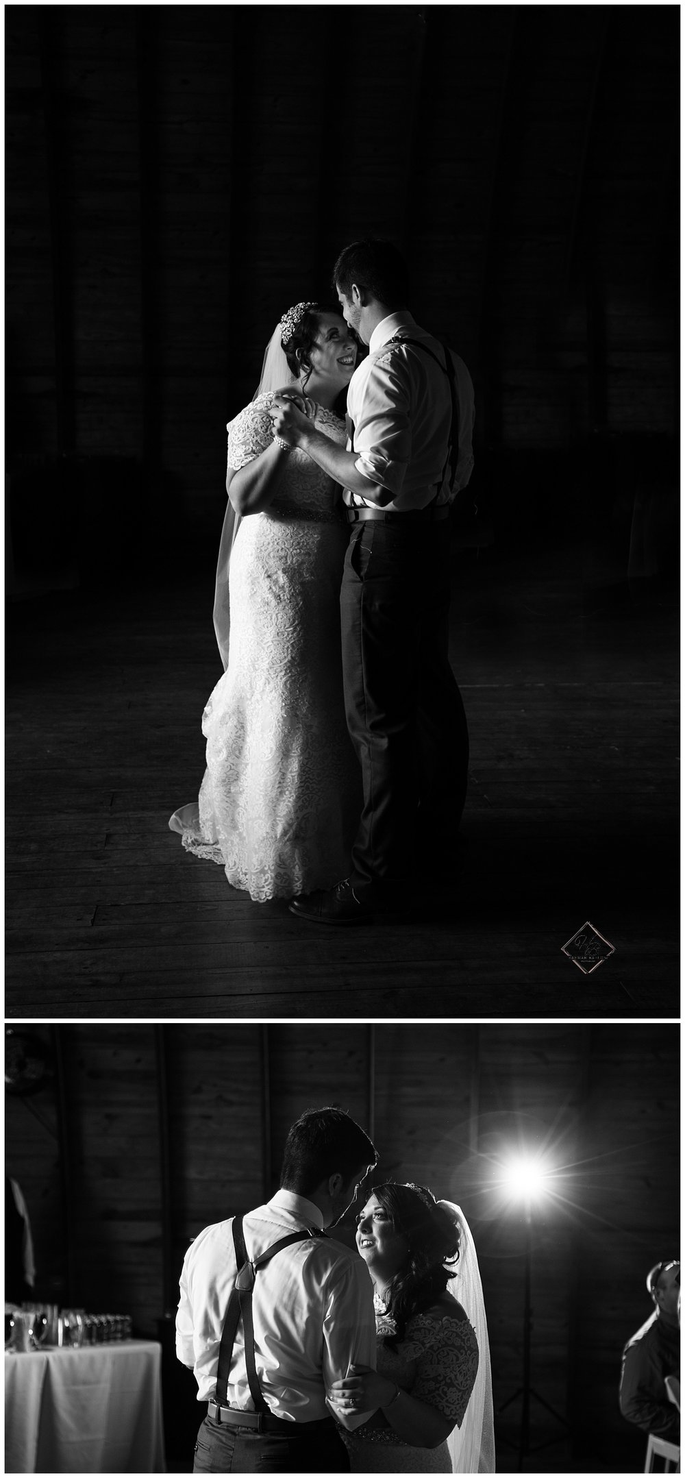 Irons Mills Vintage Wedding Bride & Groom First Dance Black and White