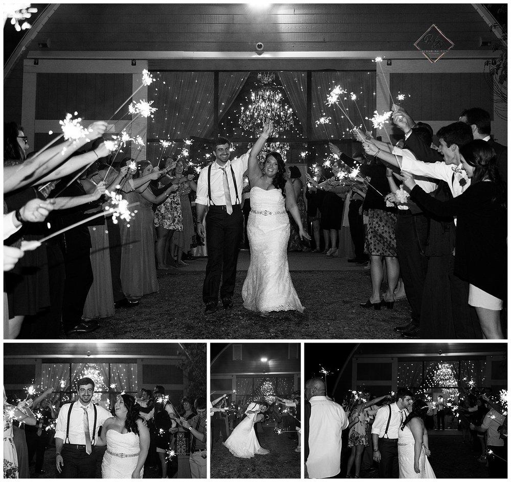 Irons Mills Vintage Wedding Bride & Groom Sparkler Send Off
