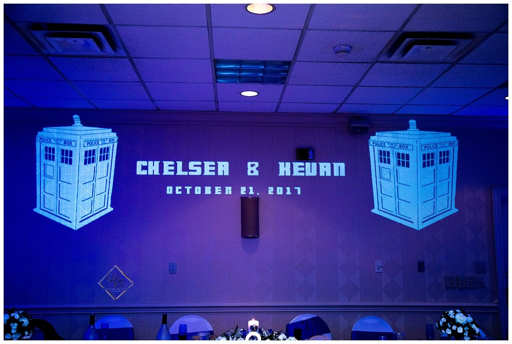 Doctor Who Themed Projection Mapped Backdrop by Jonathan Mihellis of FinestEvents.com