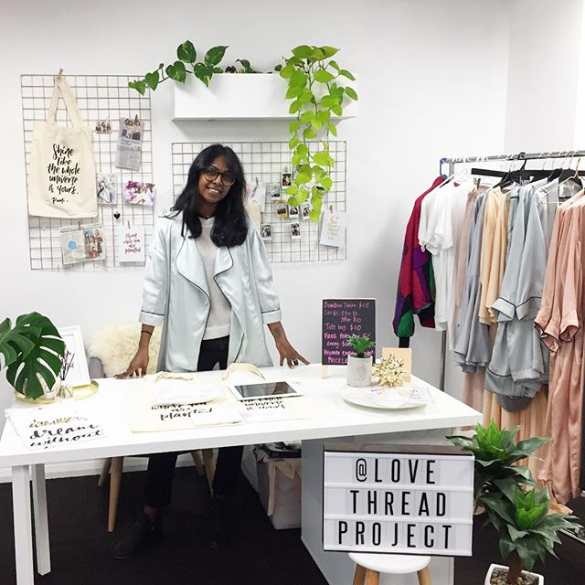 🍃FINAL DAY 🍃 •• Our girl Dhiva is at the epic EOFY with our dear friends till 4PM at @thehandshakehub. Come check out our @ltnco.label collection and grab yourself some eco friendly threads. Full proceeds directly fund our initiatives in Bali 💕