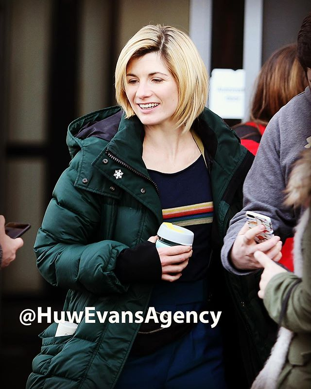 Jodie Whittaker filming #DoctorWho in Cardiff today. See more pictures here http://wrp.huwevansimages.co.uk/events/10798  #dwsr #JodieWhittaker #Cardiff