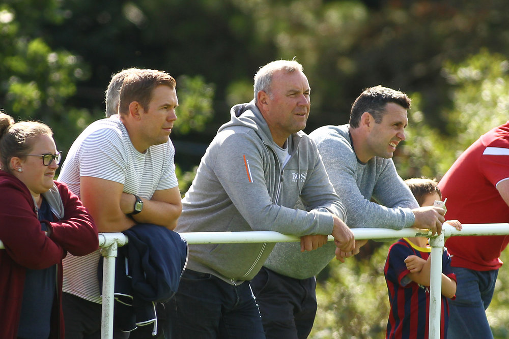 Ioan Cunningham, Wayne Pivac and Stephen Jones watch Cardiff Blues A v Scarlets A