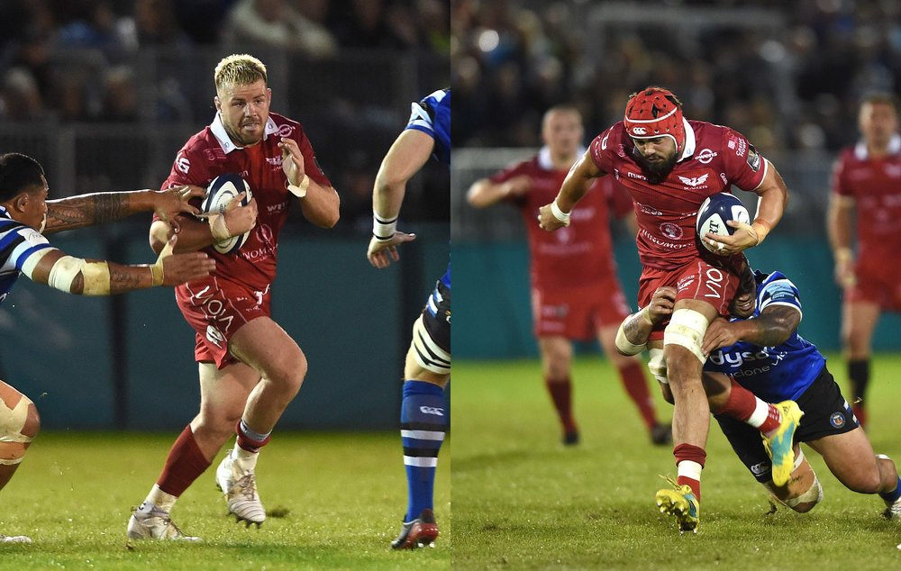 Rob Evans and Josh Macleod in action against Bath in preseason