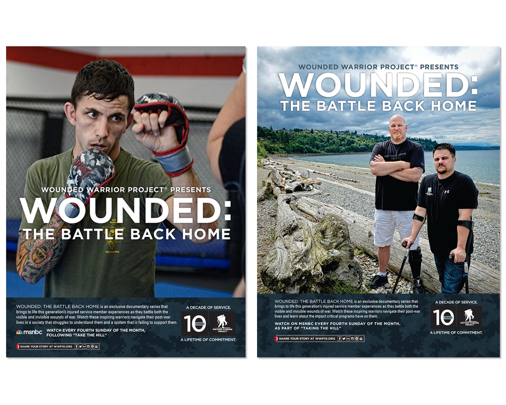 "National Ads for ""Wounded: The Battle Back Home"" TV Series"