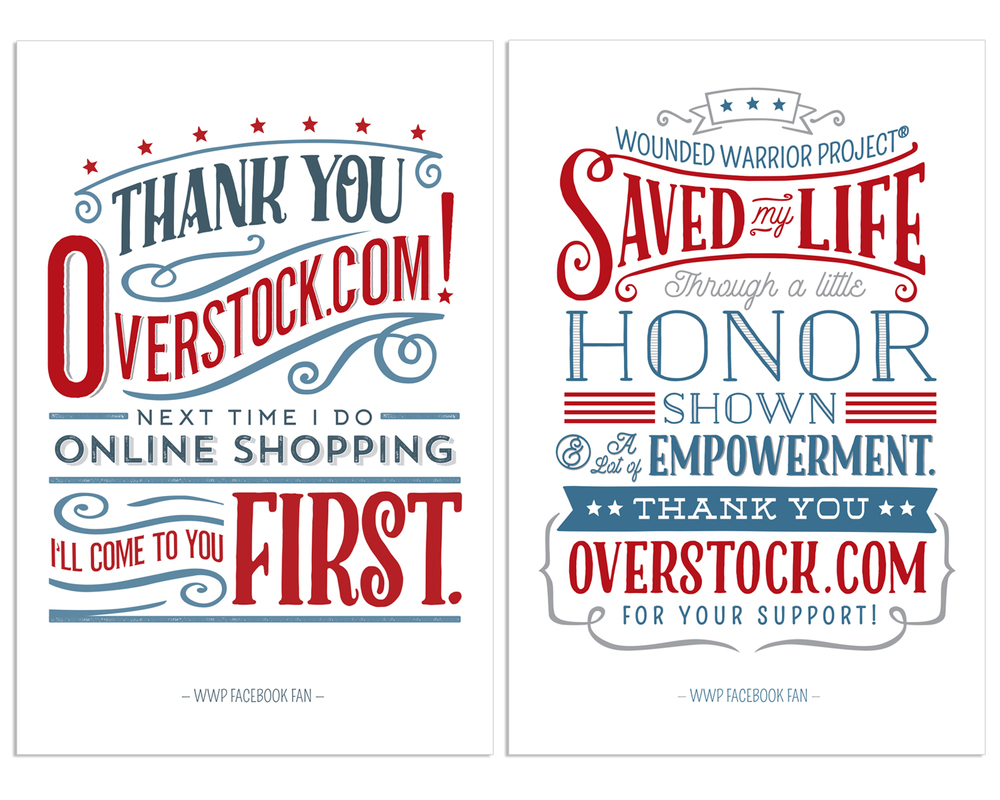 Thank You Cards for Overstock.com Corporate Partnership