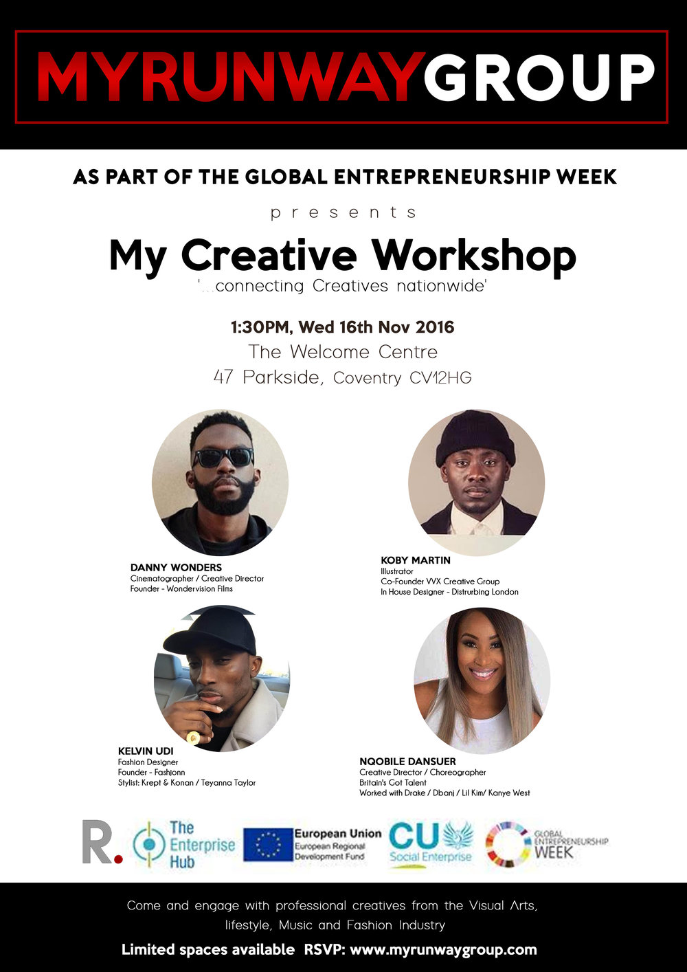 We are curating a new platform for you to share your story and inspire others. Our first installment is with Coventry University as we invite four of our creative friends to speak about their creative journey and what motivates them to keep going each day. This event is free make sure you RSVP   here