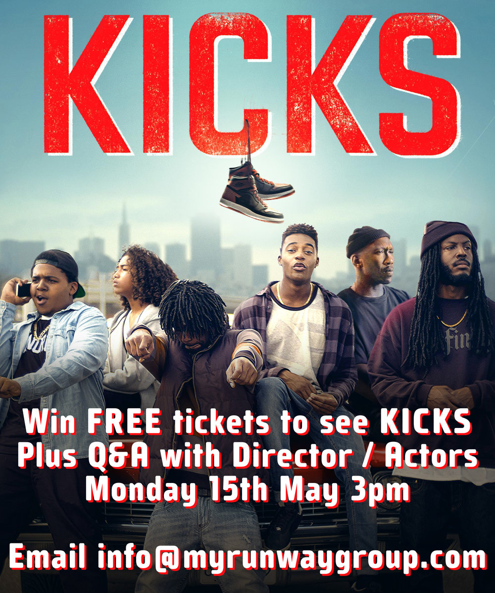 We have some tickets to give away from our good friends at BFI. Email info@myrunwaygroup.com to grab yourself some tickets to the screening of KICKS