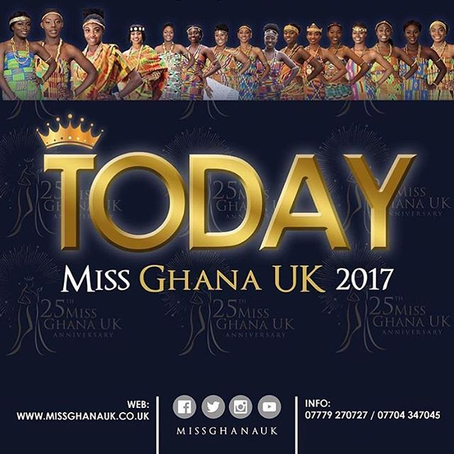 👸🏾The longest running beauty pageant for the diaspora in the U.K. 🇬🇧 is happening tonight. #MissGhanaUK is 25 today! Tonight they crown 👑 a young #Ghanaian #beautiful #intelligent Queen 👸🏾 to do charity work here and in #Ghana. Make sure you head down to the Gaumont Palace to witness this rich African spectacle and display of culture. Who do you think should be crowned Queen?  Cc: @missghanauk 🇬🇭