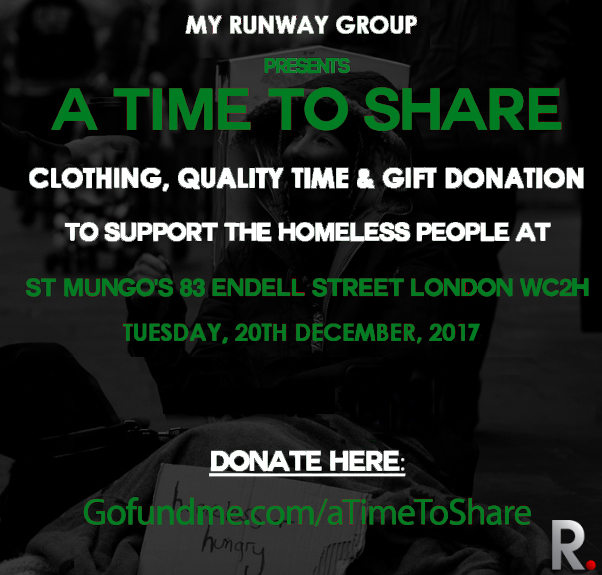 It's that time again. We are excited to embark on the most important project on our calendar. We will be donating food, clothing items to the homeless people at St Mungo's. We will also be playing board games and other activities as well as presenting Christmas cards to each and everyone at the shelter. You can donate towards this course here..   gofundme.com/atimetoshare2017