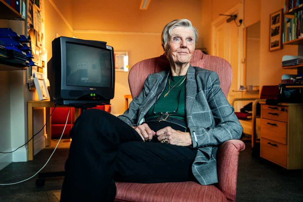 Barbro Westerlund, currently oldest in the Swedish parliament