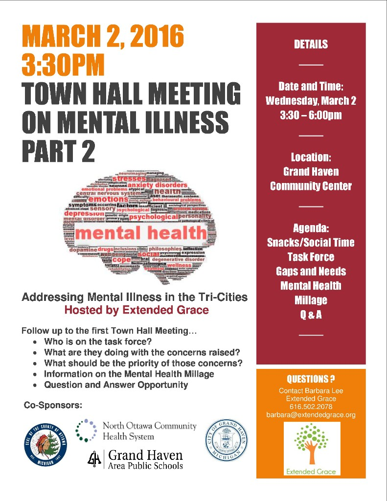 Town hall meeting mental illness part 2 extended grace - Momentum task force madrid ...