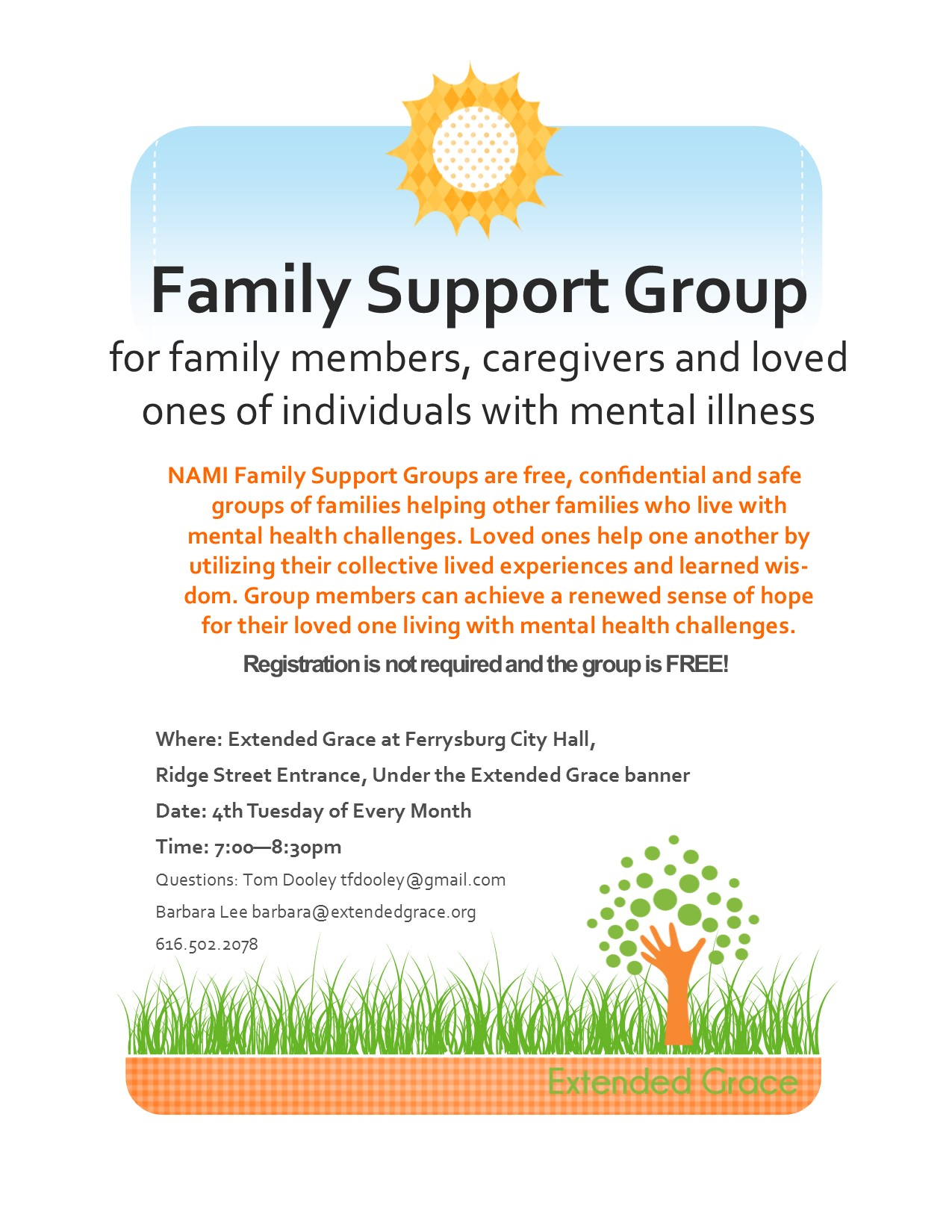 Family Support Group — Extended Grace